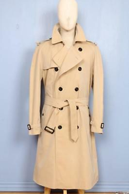 STUNNING Mens BURBERRY Double Breasted TRENCH Coat Mac Beige Size 44/46
