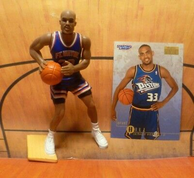 1998 STARTING LINEUP NBA Grant HILL Detroit Pistons Basketball Kenner Slu