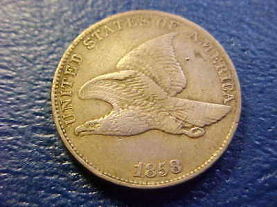 1858 Ll  Flying Eagle Cent Nice  Grade Original Type Coin