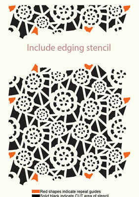 Lace Pattern Repeatable Stencil Reusable  Furniture Cards Journaling Crafts LA45