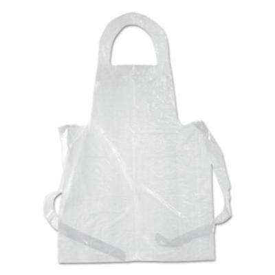 Royal Paper Products DAK2855 Poly Apron, White, 28 X 55, 100/pack