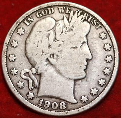 1908-O New Orleans Mint Silver Barber Half Dollar !