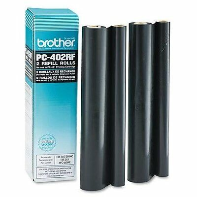 Brother Black Refill Ribbon Rolls - Black - Thermal Transfer - 150 Page - 2 /