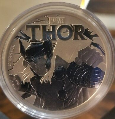 Marvel Comics Thor 1 oz .999 Silver Coin  $1 2018 Tuvalu Super Hero NEW hammer