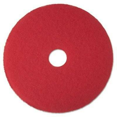 "3M/COMMERCIAL TAPE DIV. 08394 Buffer Floor Pad 5100, 19"", Red, 5 Pads/carton"