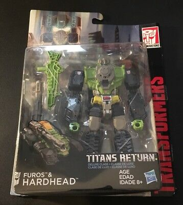 Transformers Titans Return Furos And Hardhead Deluxe Class Figure READ