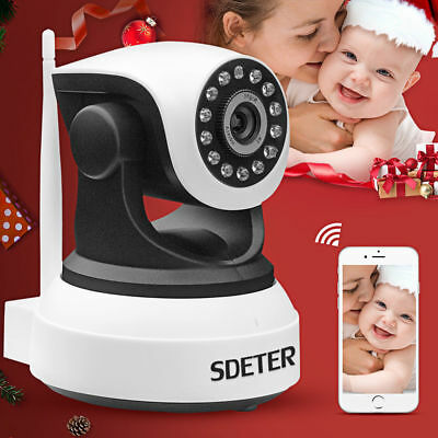 720P Wireless Wifi Pet Baby Monitor Two Way Audio Night Vision Alarm Camera Exq