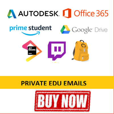 Student EDU EMAIL FREE Amazon Prime, Google Drive, Autodesk, Office 365, Twitch