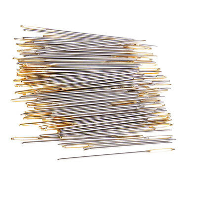 100pcs Large Eye Embroidery Tapestry Darning Needle Sewing Crafts Tools 22#