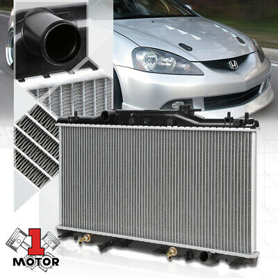 Radiator For 2002-06 Acura RSX 2.0L 4Cyl Engine Manual Transmission Plastic Tank