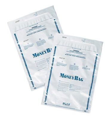 PM Company SecurIT Tamper Evident Plastic Disposable Deposit Bags, Opaque/White