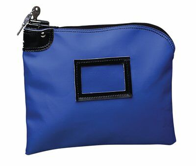 PM Company SecurIT Nylon Night Deposit Bag with Lock, 9 x 12 Inches, Blue, 1 per