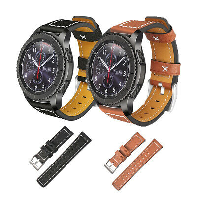 Genuine Leather Strap Belt Watch Band For Samsung Gear S3 Frontier/Classic 22mm