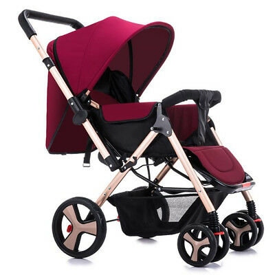 Baby Stroller Foldable Carriage Infant Cart Pushchair Sitting Lying Outdoor Tool