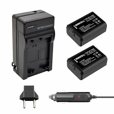 2X NP-FW50 Battery + Charger for Sony A6300 A6000 A5000 A3000 A7R Alpha 7 NEX-6