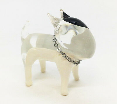 Bull Terrier Dog Breed Hand Blown Mini Glass Art Animal Fancy Collectible Pet
