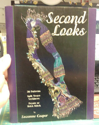Beading Book - Second Looks by Suzanne Cooper 30 Patterns color chart patterns