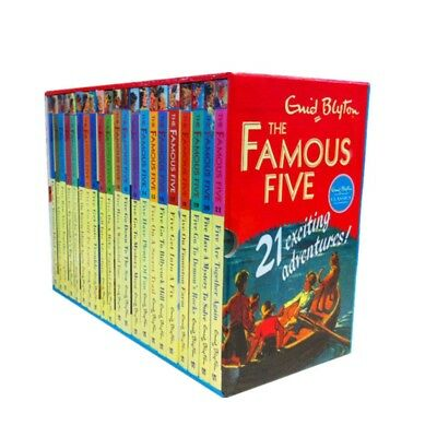 The Famous Five  21 Exciting Adventures 21 Books Box set by Enid Blyton Slipcase