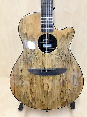 """38"""" Haze 836CGC Acoustic/Classical Guitar Pack,Spaltted Maple Graphic,Round-Back"""