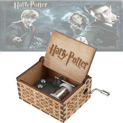 Harry Potter Music Box Engraved Wooden Music Box Collectibles Toy Kids Gifts Hot
