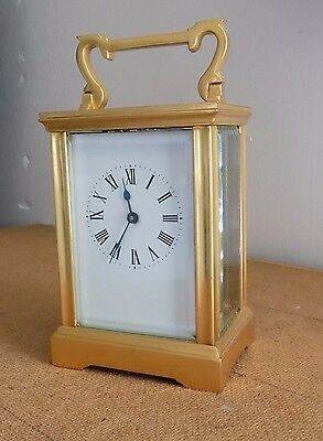 Brass carriage Clock 8 day movement