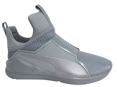 Puma Fierce Quilted Slip On Grey Textile Womens Trainers 189418 02 M16 025c0b49c