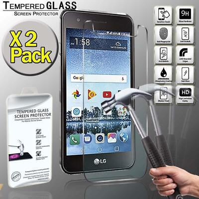 2 Pack Real Tempered Glass Screen Protector Cover For LG Rebel 3