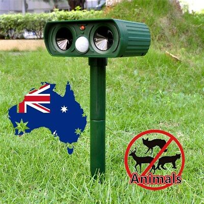Led Garden Animal Solar Sonic Deterrent Repeller Cat Dog Fox Bird Pest Control