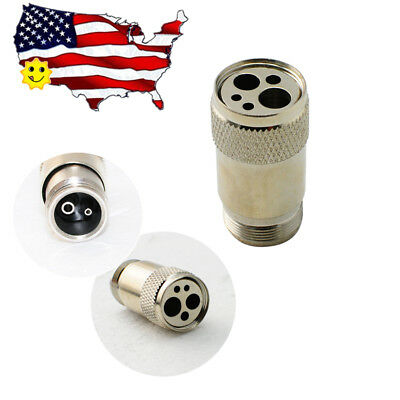 US Dental 2 to 4 Hole High Fast Speed Handpiece Tubing Adapter Changer Connector