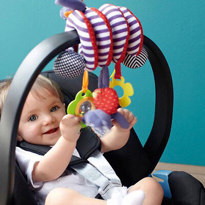 Baby Toddlers Pram Stroller Spiral Cot Hanging Musical Toys For Auto Car Seat AU