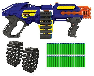 NEW Gun Zombie Blaster Strike Rapid Fire Foam Soft Darts Nerf Kids Toy Powerbolt