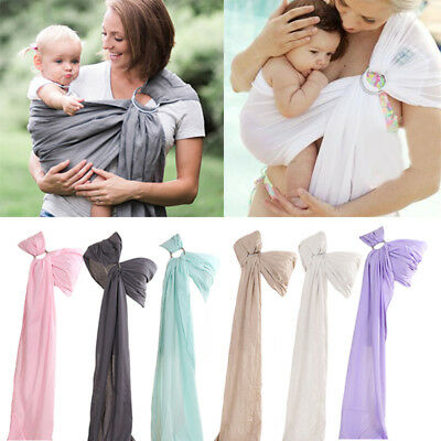 New Infant Baby Outdoor Ring Sling Straps Carrier Newborn Slings Wrap 0-12M BW