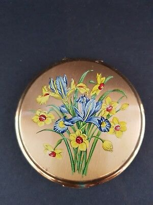 Vintage Stratton Powder Compact - Flower Pattern - Excellent Condition