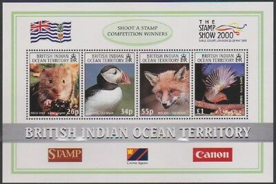 2000 British Indian Ocean Territory Birds Wildlife miniature sheet MNH