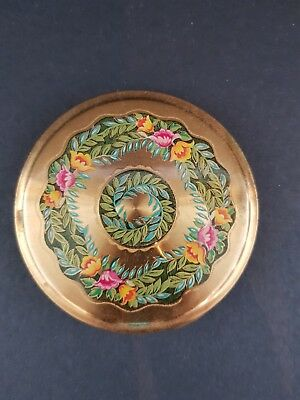 Vintage 'darling' Powder Compact - Flower Pattern - Excellent Condition