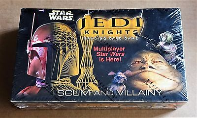 "STAR WARS CCG  ""JEDI KNIGHTS"" SCUM AND VILLAIN  SEALED BOX OF 36 x BOOSTER PACKS"