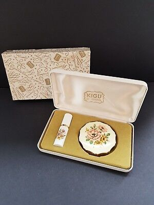 Vintage Kigu Boxed Powder Compact And Atomiser - Excellent Condition