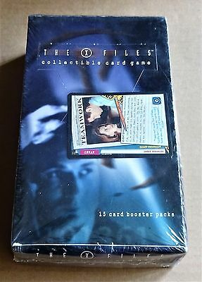 X-FILES CCG NEW FACTORY SEALED BOX OF 36 x 15 CARD BOOSTER PACKS + PROMO CARD