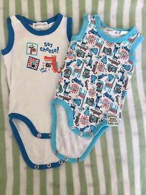 Pumpkin Patch Baby Boy Body Suits X2