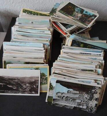 Lot of 1,000 US State View Postcards LInen & Earlier Eras 1900s-1950s