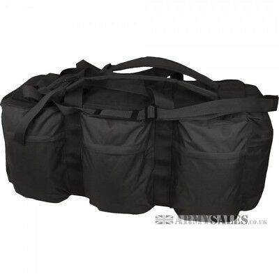 Military Army Style Deployment Bag Holdall, Kombat - Black 100 L Backpack Straps