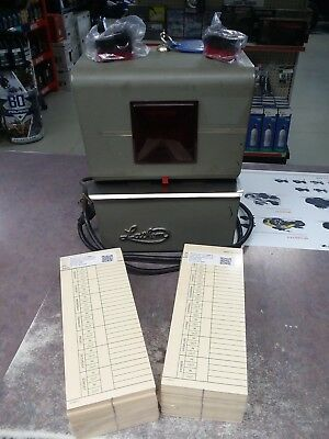 Lathem Time Clock 4001DD with NEW Ribbons & 400 Time Cards New Clock Motor
