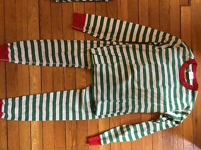 Hanna Andersson green and white striped pajamas - womens XS