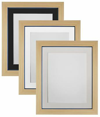 Magnus Beech with Cobalt Blue Picture Photo Frame with black, White, Ivory Mount