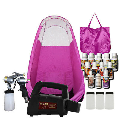 Maximist Spraymate Pro Sunless Hvlp W Pink Tent And Free Tampa Bay Tan Spray