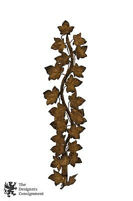 Italian Gold Painted Florentine Ivy Vine Leaves Wall Sconce Candlestick Holder
