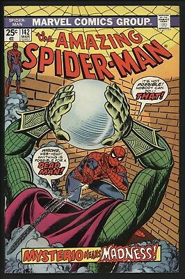 Amazing Spider-Man #142 Vs Mystrerio! Great Value Cents Copy With White Pages