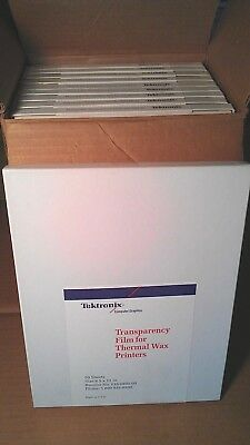 500 Sheets TEKTRONIX TRANSPARENCY FILM FOR THERMAL WAX PRINTERS 8.5x11 NEW