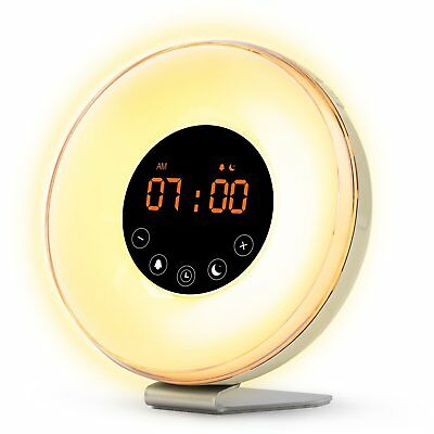 Wake Up Light - Sunrise Sunset Simulation, Natural Sounds, FM, Alarm Clock