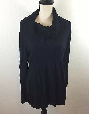 Liz Lange Maternity Sweater Size Xxl 2x Black Cowl Neck Pregnancy
